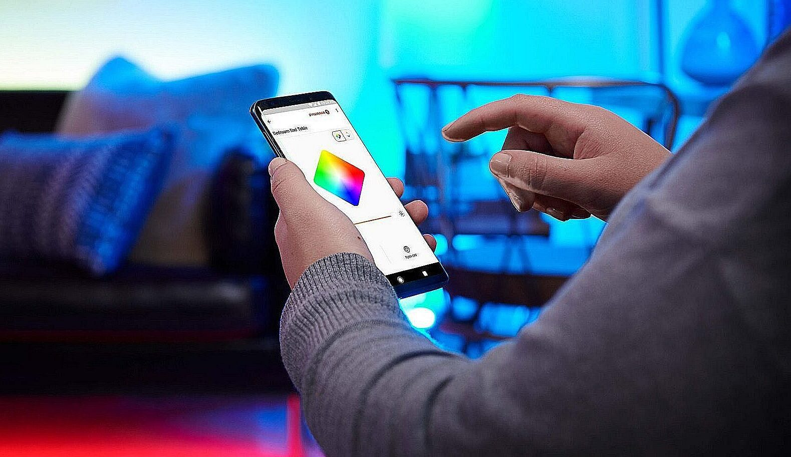 Styring af lys via smartphone